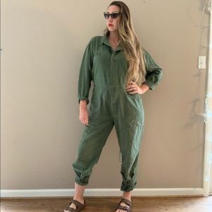 Vintage Vietnam Era Army Green Coveralls